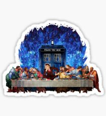 The Doctor Lost in the last Supper Sticker