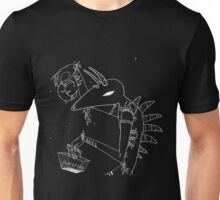 Monster with moon (png!) Unisex T-Shirt