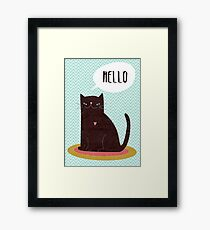 Hello Catty Framed Print