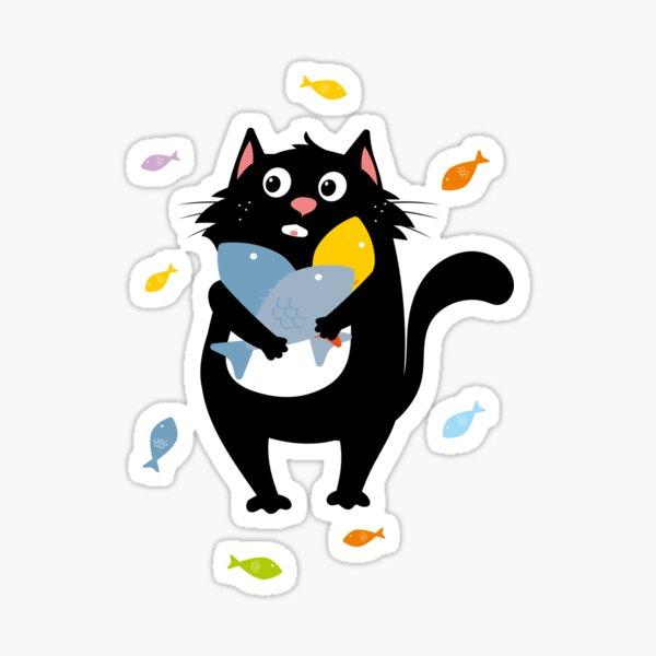 cat fish animals Sticker