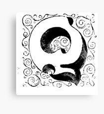 Block Alphabet Letter Q Canvas Print