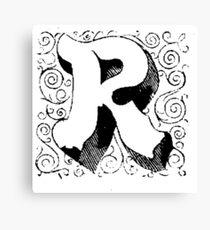Block Alphabet Letter R Canvas Print