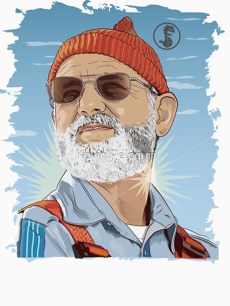 Bill Murray as Steve Zissou Illustrated Portrait | Unisex T-Shirt