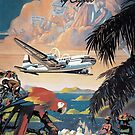 Fly to the Caribbean by Clipper Pan American Vintage Airline Poster by Framerkat