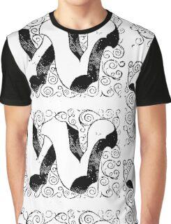 Block Alphabet Letter W Graphic T-Shirt