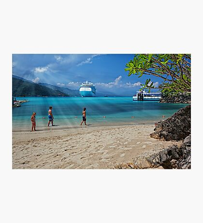 A Day at the Beach (Labadee, Haiti) Photographic Print