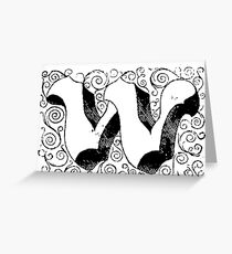 Block Alphabet Letter W Greeting Card