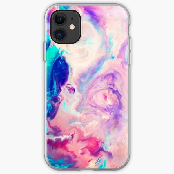 colorfull marble iPhone Soft Case