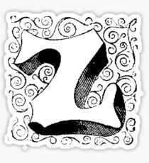 Block Alphabet Letter Z Sticker