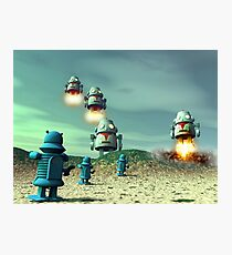 Robot Invasion From Above V2 Photographic Print