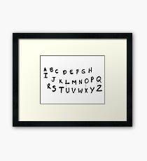 Stranger Things ABC – Lights, Letters Framed Print