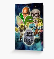 Collection of the Dankest Memes Greeting Card