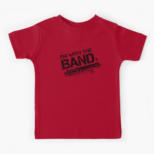 I'm With The Band - Baritone Saxophone (Black Lettering) Kids T-Shirt