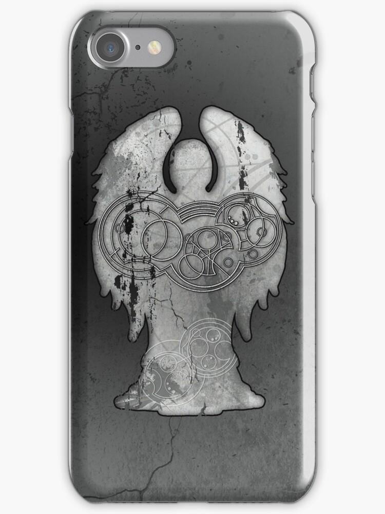 Weeping Angel Design with Circular Gallifreyan by siroctopus