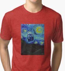 Van Gogh Blue Box Tri-blend T-Shirt
