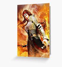 Fire Elf Greeting Card