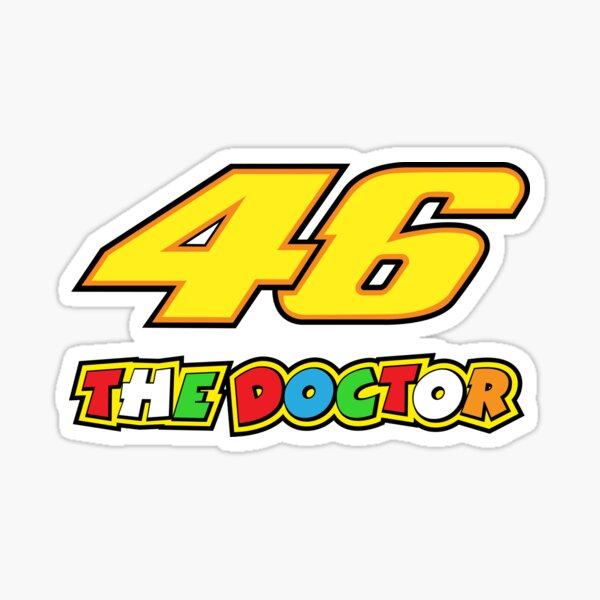 Valentino Rossi Number 46 The Doctor Sticker