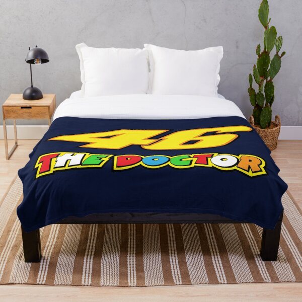 Valentino Rossi Number 46 The Doctor Throw Blanket