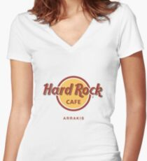 Hard Rock Cafe Dune Sci Fi Fantasy Women's Fitted V-Neck T-Shirt