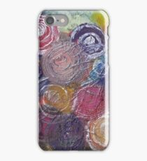 Circle Glitter Bouquet by Adrianna Stepiano iPhone Case/Skin