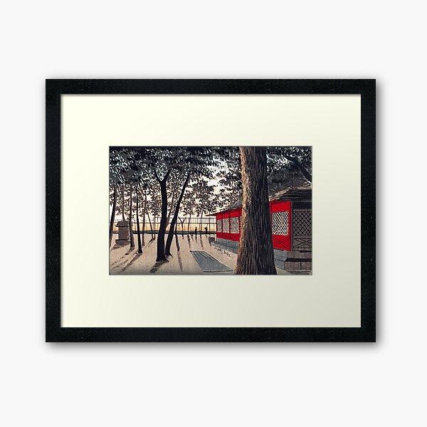 Kanda Shrine at Dawn by Kobayashi Kiyochika Framed Art Print