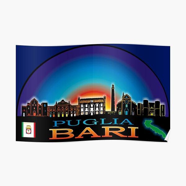 Puglia Bari skyline aesthetic Poster