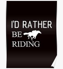 Riding horse and animal Poster
