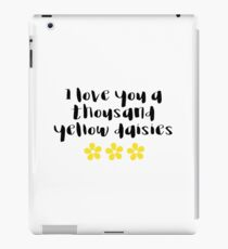 Gilmore Girls - I love you a thousand yellow daisies iPad Case/Skin