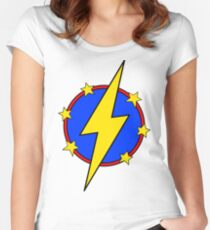 My Cute Little Super Hero - No Letter Plain Women's Fitted Scoop T-Shirt