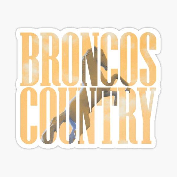 Broncos Country Miles Sticker