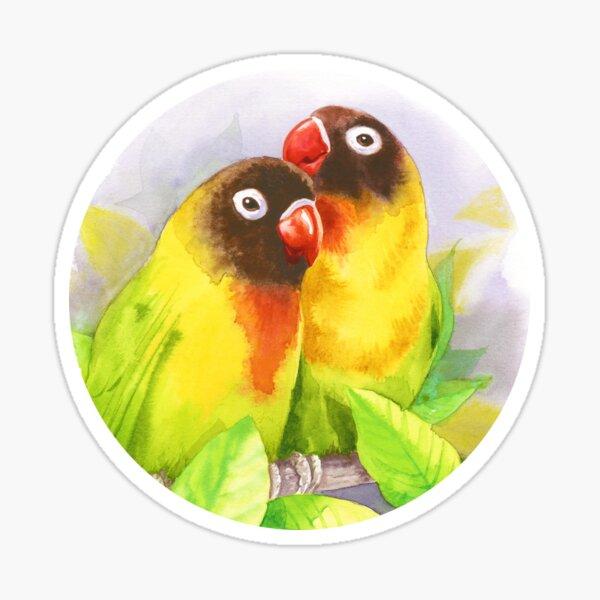 Masked Lovebirds Sticker