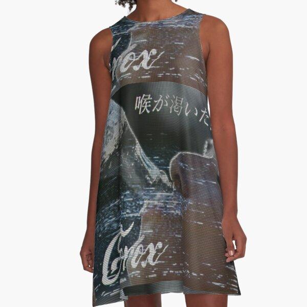 Vaporwave Clorox A-Line Dress