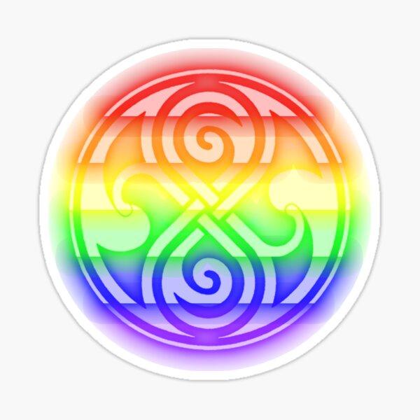 Rainbow Seal of Rassilon Sticker