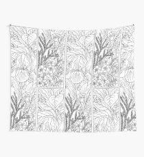 Botanical Alphabet Letter I Wall Tapestry