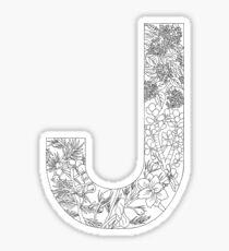 Botanical Alphabet Letter J Sticker