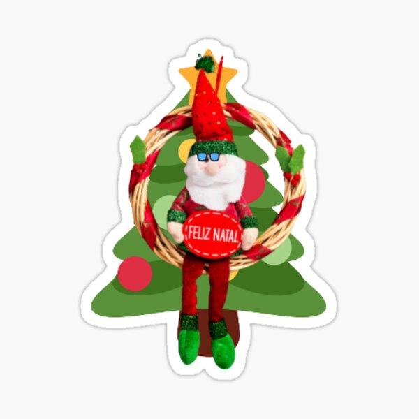 Christmas Santa With tree Sticker