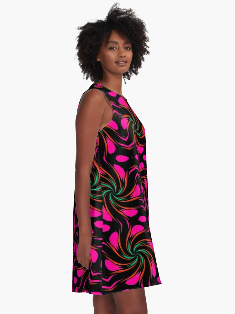 Alternate view of Arcadia Red Flower 1 A-Line Dress