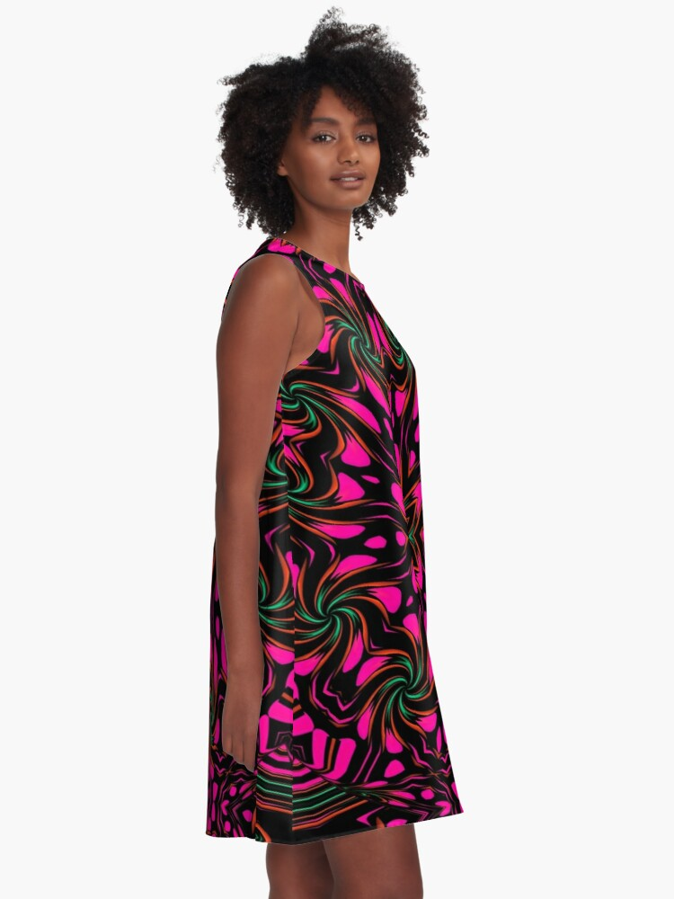 Alternate view of Arcadia Red Flower 2 A-Line Dress