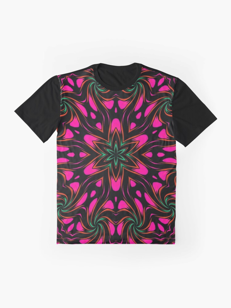 Alternate view of Arcadia Red Flower 2 Graphic T-Shirt