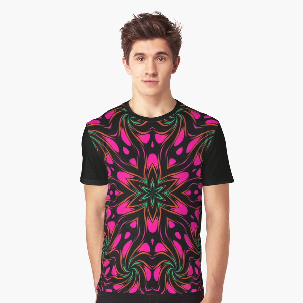 Arcadia Red Flower 2 Graphic T-Shirt