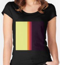 Sunset Palette Stripe Pattern- vertical Women's Fitted Scoop T-Shirt