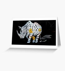 Rhinoceros Unravelled Greeting Card