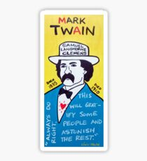 Mark Twain Folk Art Sticker