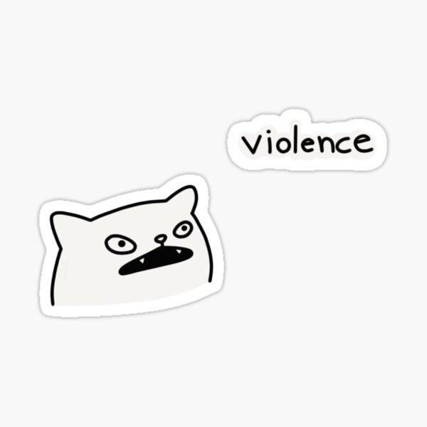 violencia Sticker