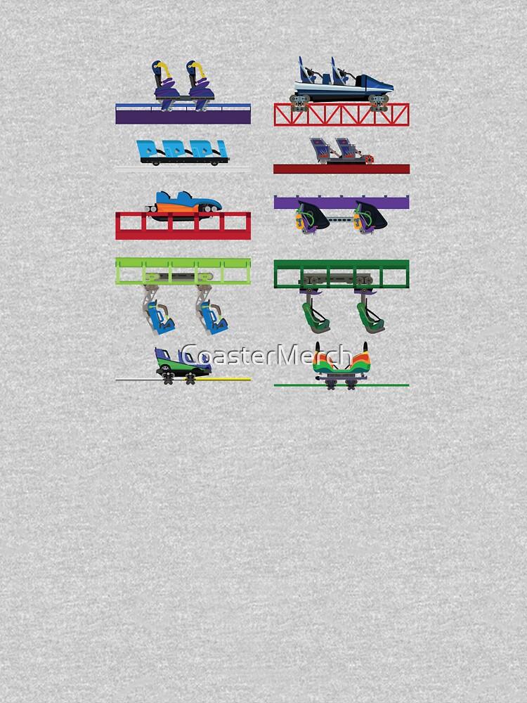 Six Flags New England Coaster Cars by CoasterMerch