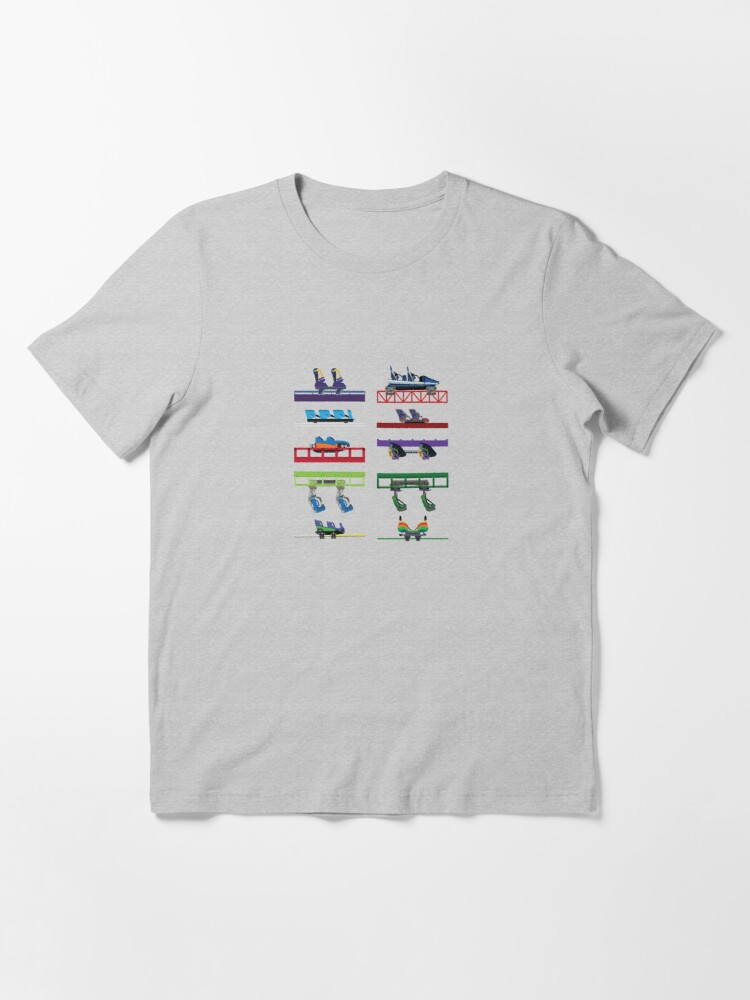 Alternate view of Six Flags New England Coaster Cars Essential T-Shirt