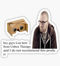 unbox therapy poor review Sticker