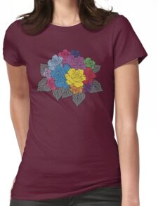 Colourful Bunch of Roses Womens Fitted T-Shirt