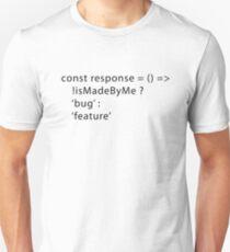 Developer Response Function (Javascript) Unisex T-Shirt