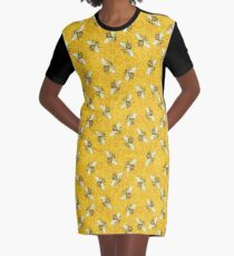 Honeybees Honeycomb Bee Apiary Pattern Graphic T-Shirt Dress